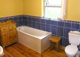 Kinnegar Beach Cottage Rathmullan - bathroom