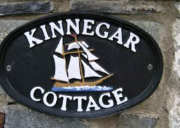 Kinnegar Beach Cottage Rathmullan - nameplate
